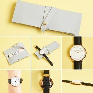 Cluse La Boheme Rose Gold Watch with Black Band